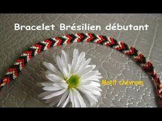 Tuto : comment faire un bracelet brésilien facile, en v (débutant) - YouTube