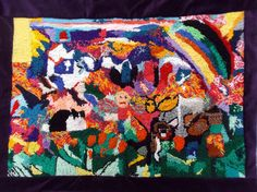 """2014 JC In-House Honorable Mention Michelle Harris for her fibre art, """"My Family Life of My Dog and I"""" Disability Art, Fibre Art, Family Life, Quilts, Dog, Artist, House, Painting, Diy Dog"""