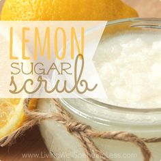 DIY Lemon Sugar Scrub - basically sugar, coconut oil and essential oil, so could be any smell really.