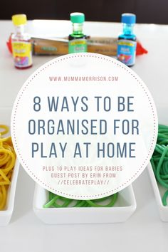 Are you looking for opportunities for play with your baby at home? Check out this awesome post on how to be organised for play plus some great play ideas!