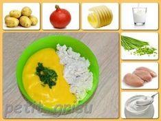 Pečené jogurtové kuřecí prsíčko s bramborovo-dýňovou kaší. (10-11m) Okra, Cantaloupe, Pudding, Yummy Food, Baking, Fruit, Ethnic Recipes, Desserts, Tailgate Desserts