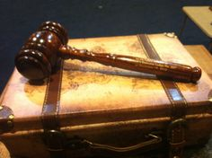Aaron Reddoch's gavel presented to him after his first year as Master