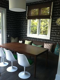 An bold & chic breakfast nook! Via Dwellers without Decorators
