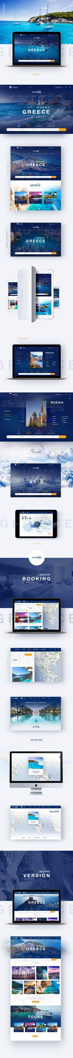 Greece Travel on Behance