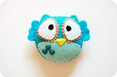 Felt owl Ty Monster Factory Clementine Mini Monster Stuffed Animal Plush more monster softies Fabric Crafts, Sewing Crafts, Sewing Projects, Craft Projects, Felt Owls, Felt Birds, Felt Animals, Owl Crafts, Cute Crafts