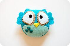 Felt owl #owl #felt #DIY