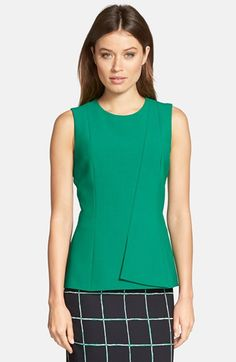 BOSS 'Ileti' Sleeveless Asymmetrical Detail Ponte Knit Top available at #Nordstrom