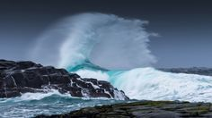 природа, пейзаж, вид на море, шторм, волны, вода, море