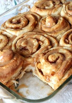 Caramel Apple Cinnamon Rolls - starting with a cake mix
