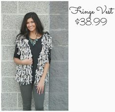 Love our fringe vest! # trendy #newarrivals #fringe #fallfashion #vest #ootd #fashionista #utahboutiques #shopbellame