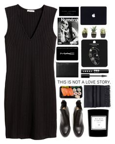 """""""Untitled #1985"""" by tacoxcat ❤ liked on Polyvore featuring H&M, Acne Studios, Aspinal of London, MAC Cosmetics, LORAC, Topshop and Marc Jacobs"""