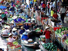 Mercado flotante Bangkok (Tailandia)