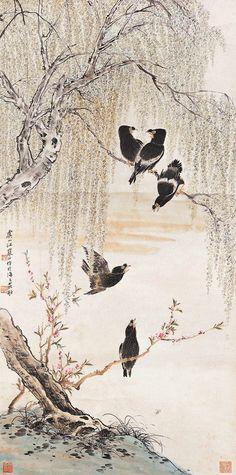 江寒汀花鸟作品欣赏 - wangchangzhengb - wangchangzhengb的博客