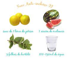 Sucos Anti-Inchaço | Clínica Patrícia Davidson Haiat\♥/