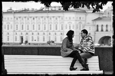 Street romance in Saint Petersburg, Russia