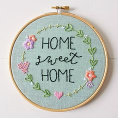 Home Sweet Home Embroidery Pattern PDF Pattern by cinderandhoney