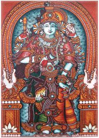 As I ponder, I let my words wander.: Story of Shiva and Vishnu Mural Art, Murals, Lord Murugan Wallpapers, Bussines Ideas, Kerala Mural Painting, Hindu Art, Lord Shiva, Black Magic, Fabric Painting