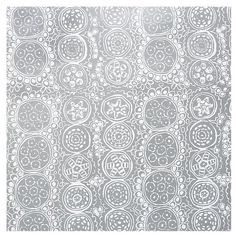 Marimekko Praliini Silver and White Gift Wrap