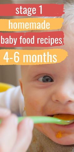 5 month old baby food 5 Easy Stage 1 Homemade Baby Food Recipes 4 - 6 Months. Baby Food Guide, Baby Food Recipes Stage 1, Baby Food Schedule, Baby Food 5 Months, 4 Month Baby Food, Baby Weaning Recipes 6 Months, 4 Months, Baby Puree Recipes, Pureed Food Recipes