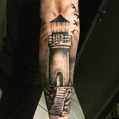 Realistic drawing... The lighthouse... Acanomuta Tattoo Studio