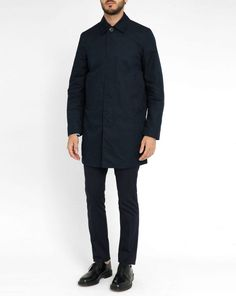 Paul Smith Navy Unlined Men's Mac Coat