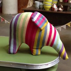 Elephant by theblackrabbit, anthropologie.com #Elephant #Plushie #theblackrabbit