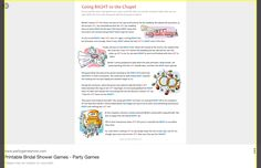 bridal shower games - Google Search