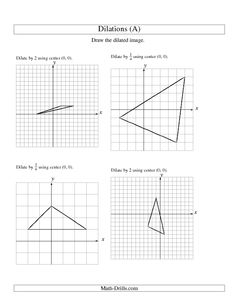 Printables 8th Grade Geometry Worksheets geometry worksheets and on pinterest worksheet dilations using center 0