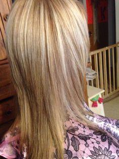 Blonde in blonde color hair