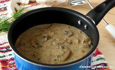 Uniwersalny sos pieczarkowy. Gęsty i aromatyczny, pachnący koperkiem, taki jak lubię  Sos pieczarkowy świetnie się nadaje zarówno do makaronu, klusek śląskich, kasz, ryżu, ziemniaków puree a nawet mięsa. Dla podbicia jego barwy polecam dodać łyżeczkę sosu sojowego. Pieczarki dobrze komponują się masłem. Warto go użyć do smażenia. Ja sięgam jednak po jego zdrowszą alternatywę ...
