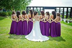 purple bridesmaid dresses - sakura infinity dress