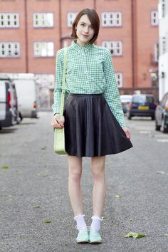 sleeved top with short skirt