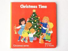 Vintage Christmas Time Board Book, Toddler's Christmas Book, Published by Brimax, 1983, 00727