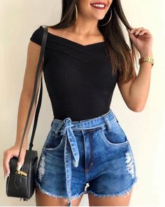 71 hipster outfits that will inspire you 30 Casual Summer Outfits, Short Outfits, Spring Outfits, Trendy Outfits, Girl Outfits, Fashion Outfits, Fashion Shorts, Casual Hipster Outfits, Punk Rock Outfits