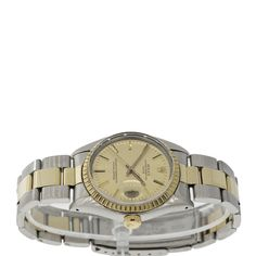 Brand: Rolex Style Name: Date Strap Material: Stainless Yellow Gold Case Metal: Stainless Yellow Gold Dial: Black with Luminescent Hour Mark Pre Owned Rolex, Luxury Jewelry, Bracelet Watch, Jewelry Watches, Dating, Stainless Steel, Unisex, Yellow, Metal