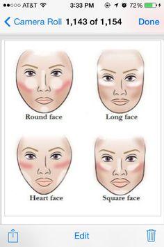▷ ideas for natural make up to . - eye make-up face make up according to the shape of the face concealer rouge and highlighter - Make Makeup, How To Apply Makeup, Makeup Tips, Beauty Makeup, Hair Beauty, Makeup Pro, Makeup Class, Clown Makeup, Skull Makeup