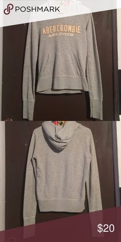 Light gray Abercrombie & Fitch hoodie A light gray Abercrombie & Fitch hoodie only wore a few times but no visible sign of wear. A lighter hoodie Abercrombie & Fitch Tops Sweatshirts & Hoodies