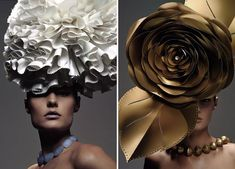 These amazing paper hats were created by Zoe Bradley. Aren't they just beautiful? Paper combined with a touch of creativity can have some amazing results! Please visit the Zoe Bradley website for m...