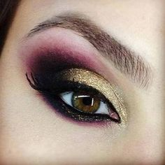 Gold And Purple Eyeshadow Tutorial | AmazingMakeups.com