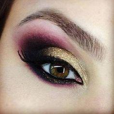 Gold And Purple Eyeshadow Tutorial | AmazingMakeups.com