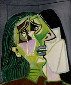 Pablo Picasso Weeping woman 1937 oil on canvas x cm Purchased by donors of The Art Foundation of Victoria, with the assistance of the Jack and Genia Liberman Family, Founder Benefactor, 1986 National Gallery of Victoria, Melbourne Kunst Picasso, Picasso Art, Picasso Paintings, Mougins France, Pablo Picasso Quotes, Cubist Movement, Guernica, Somerset, Vanitas