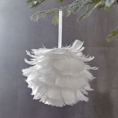 Feather Ball Ornament