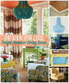Five tutorials to get this bright summer living room look for less!
