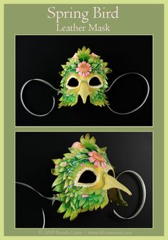 Spring Bird - Leather Mask by *windfalcon on deviantART