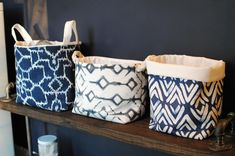 Organize your laundry room, playroom and more with these DIY fabric storage baskets!