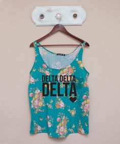 Tri Delta Floral Tank     #want want want