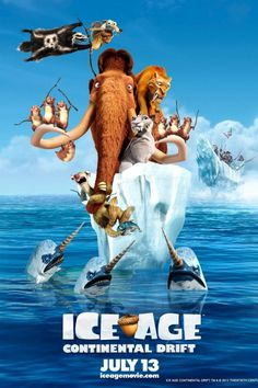 Ice Age: Continental Drift of the top grossing film in 2012 to watch Ice Age Movies, Fox Movies, Cartoon Movies, Disney Movies, Watch Movies, Pixar, Ice Age 4, Peliculas Audio Latino Online, Film Anime