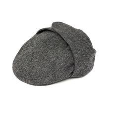 Herringbone Cap with Ear Flaps.