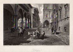 HAKEWILL, JAMES. 1778-1843. A Picturesque Tour of Italy, from Drawings Made in 1816-1817. London: John Murray, 1820.  Bologna