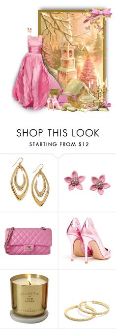 """""""pink 'n' gold"""" by caitriona-mcallister ❤ liked on Polyvore featuring Oscar de la Renta, Alexis Bittar, Guide London, Chanel, Gianvito Rossi, Eclectic by Tom Dixon and Coach"""